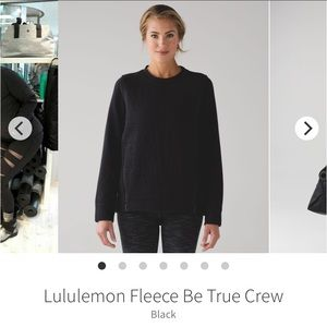 Lululemon Black Fleece Be True Crewneck